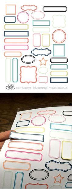 free label print & cut file | multicolor #Silhouette: