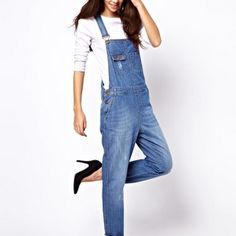 @Amanda Holstein 's FASHIONABLE SPRING PICKS- ASOS VINTAGE WASH DENIM DUNGAREE