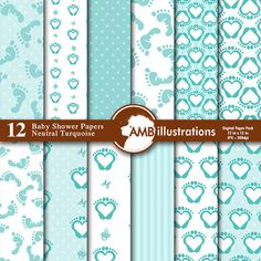 Baby Shower Digital papers