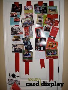 cute way to display Christmas cards.