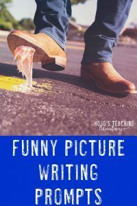 Funny picture writing prompts can be a lot of fun in your and grade classroom or homeschool! click through to get access to 50 Writing Prompts 2nd Grade, Kindergarten Writing Prompts, Writing Prompts Romance, Writing Prompts For Writers, Picture Writing Prompts, Writing Workshop, Teaching Writing, Writing Ideas, Literacy