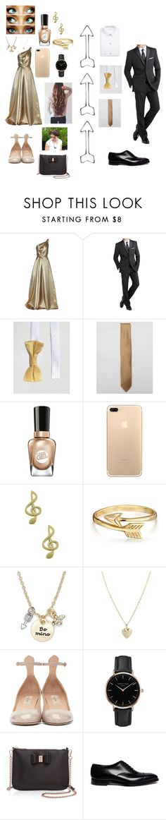 """""""Prom & Date: Daughter of Apollo"""" by elizabethsolace ❤ liked on Polyvore featuring Carolina Herrera, International, Noose & Monkey, ASOS, Younique, Sally Hansen, Jewel Exclusive, Bling Jewelry, Lonna & Lilly and Valentino"""