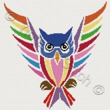 chouette Owl cross stitch