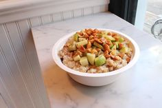 Caramel Apple with Peanuts Oatmeal Recipe with Quaker Oats, granny ...