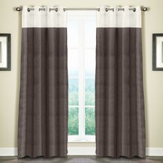 The Monterey window collection is constructed from 100-percent linen. The panel has a pearl top with a stitch hem design on the bottom followed by a gorgeous contracting color which is available in seven stunning colors.