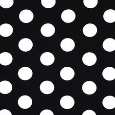Classic Dots 3 cm, 11 - Baumwolle - schwarz