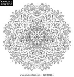 Islam Arabic Indian Moroccanspain Turkish Pakistan Chinese Mystic Ottoman Motifs Coloring Book Page Flower Mandala