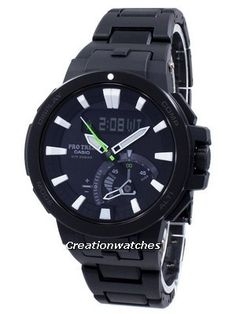 Casio Protrek Analog-Digital Atomic Triple Sensor PRW7000FC-1 PRW-7000FC-1 Watch Casio Protrek, Double Lock, Three Fold, Sapphire, Watches, Crystals, Digital, Glass, Accessories