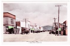 BC – OLIVER, Main Street, Camera Products c.1930s RPPC