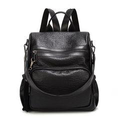 8edc8b7486 Multi Functional Waterproof Large Capacity Solid Backpack Shoulder Bag