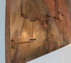Gina Michele: diy oxidized copper painting