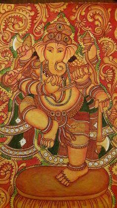 Nritha Ganapathi....mural on canvas