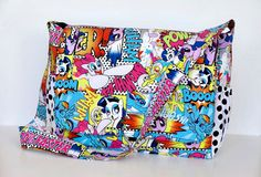 Hey, I found this really awesome Etsy listing at https://www.etsy.com/listing/221230604/my-little-pony-comic-diaper-bag-custom