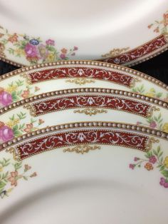 Gellee by Noritake M set of 4 dinner plates by TheChinaDish on Etsy
