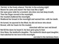 The highwayman poem online dating
