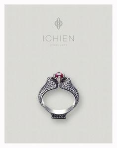 "Кольцо ""Императрица"" с бриллиантами и рубином / Diamonds and ruby ring ""Empress"" by ICHIEN"