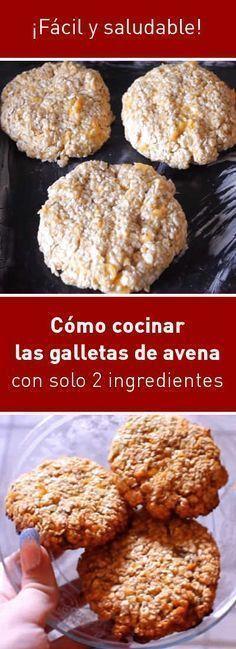 Cómo cocinar las galletas de avena con solo 2 ingredientes. ¡Fácil y saludable!