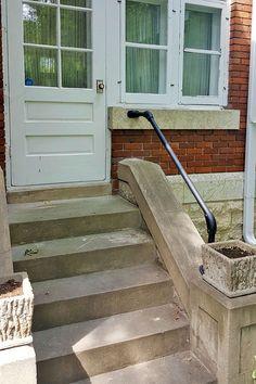 13 best outside stair railing images banisters stair handrail rh pinterest com