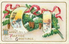 20 Vintage Christmas Postcards (1920's)