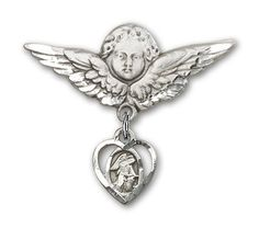 Sterling Silver Baby Badge with Guardian Angel Charm and Angel w/Wings Badge Pin Needzo Religious. $51.50. Made in the USA - Lifetime guarantee against tarnish. Christian Patron Saint Medal Pendant Necklace. Guardian Angel. 1 X 1 1/8 inch Angel w/Wings Badge Pin Unusual & Specialty. Patron of. Save 16% Off!
