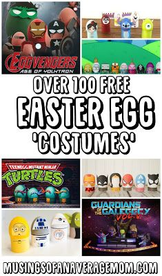 Over 100 free Easter egg costumes - to print out and decorate Easter eggs with