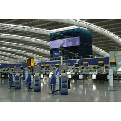Heathrow International Airport UK Terminal Maps, LHR Information and... ❤ liked on Polyvore featuring airport