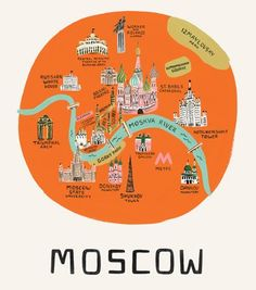 Moscow, by Rifle Paper Co #map #moscow #russia