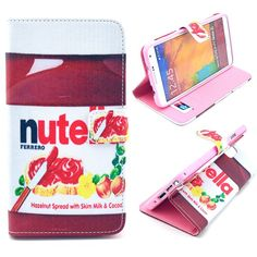 Samsung Note 3 Nutella flip case, cover, hoes