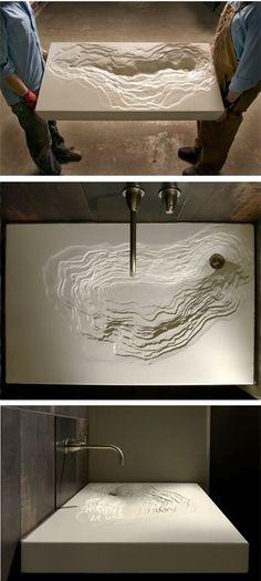modern interior design sink