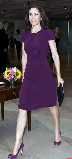 Princess Mary purple shoes. I want one outfit with it's own colour-matched shoes!