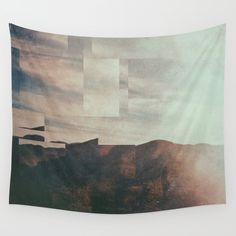 Fractions A40 Wall Tapestry. #abstract #landscape #nature #digital
