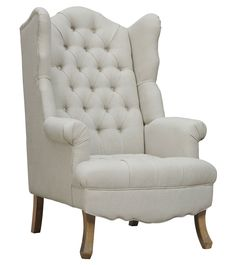 TOV Furniture Madison Linen Wing Chair