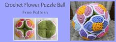Crochet Flower Ball, #crochet, free pattern, baby, stuffed toy, #haken, gratis patroon (Engels), Amish puzzel bal, baby, speeltje, kraamcadeau, #haakpatroon