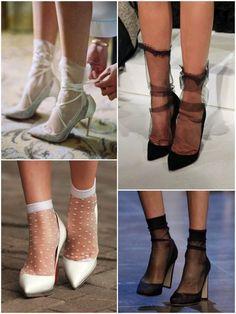 Socks and heels Women's Shoes, Sock Shoes, Cute Shoes, Me Too Shoes, Ballet Shoes, Dance Shoes, Shoe Boots, Socks And Heels, Ankle Socks