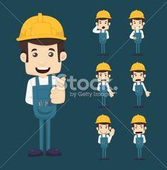 Industrie du bâtiment, Personne, Cartoon, Personnage de caractère, Vectoriel Illustration vectorielle libre de droits