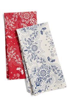 Nordstrom at Home Bandana Print Dish Towels (Set of 2)