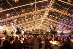 Marquee clear roof - fairy lights