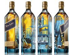 Blue Europe (another angle) by Rafael Dukenny Fun Drinks, Alcoholic Drinks, Johnnie Walker Whisky, Whiskey Lullaby, Strong Drinks, Whiskey Gifts, Vodka, Luxury Packaging, Big Challenge