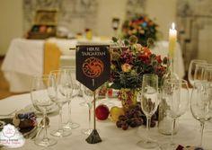 Noelia y Oscar, una boda en Invernalia Centro de mesa Juego de tronos - El Día más Dulce