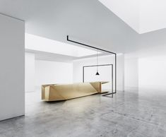 ETERNAL FLAME: FOLD BY STEININGER.DESIGNERS Josef Albers, Minimalist Kitchen, Minimalist Design, Bauhaus, Modern Furniture, Furniture Design, Eternal Flame, Gold Kitchen, Interior Design Magazine