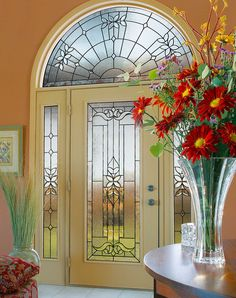 ODL Cadence Decorative Door Glass Entry Door With Sidelights, Entry Doors  With Glass, Glass
