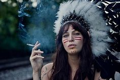 """So Why Can't I Wear It? opinion piece, click to read. """"Headdresses, feathers, and warbonnets have deep spiritual significance. The wearing of feathers and warbonnets in Native communities is not a fashion choice. This is just as bad as running around in a pope hat and a bikini, or a Sikh turban because it's 'cute'."""" #culturalappropriation"""