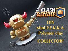 COLLECTOR! DIY Clash Royale GOLDEN Mini P.E.K.K.A. - Polymer clay tutorial - YouTube