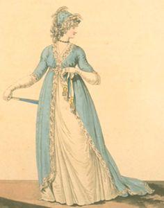 Petticoat of white muslin. Heideloff's gallery of fashion 1797