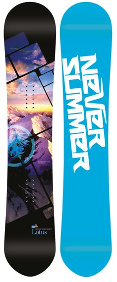 Never Summer Lotus= my dream board. Dual camber technology and all-mountain riding with big mountain and sweet powder riding capabilities. Never Summer, Summer Baby, Snowboard Girl, Big Mountain, Snow Fun, Snowboarding Gear, Winter Love, How To Make Snow, Winter Games