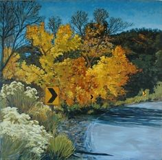 """North of Tesuque by brian lemke Oil ~ 36"""" x 36"""""""