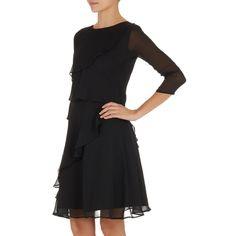 Frill Dress Black