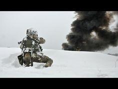 Ukraine -  Ukrainian Army Close Urban Combat Action Training In Meters Of Dense Cold Ukrainian Snow