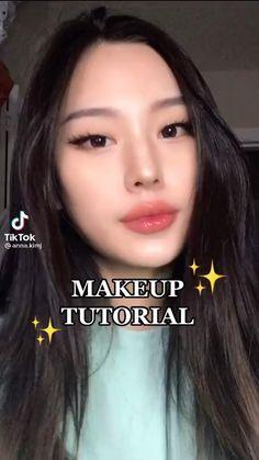 Asian Makeup Looks, Korean Eye Makeup, Makeup Tutorial Eyeliner, Makeup Looks Tutorial, Natural Makeup Look Tutorial, Pretty Makeup, Simple Makeup, Natural Makeup Tips, Asian Makeup Natural