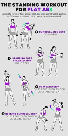 Übungsroutine für schlanke Taille und Bauch in einer Woche